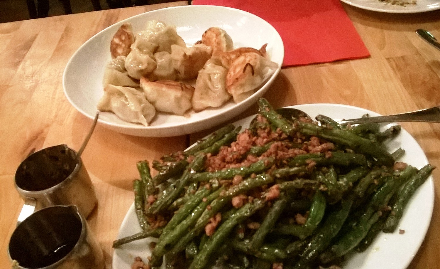 Beijing Bao - Green beans and dumplings